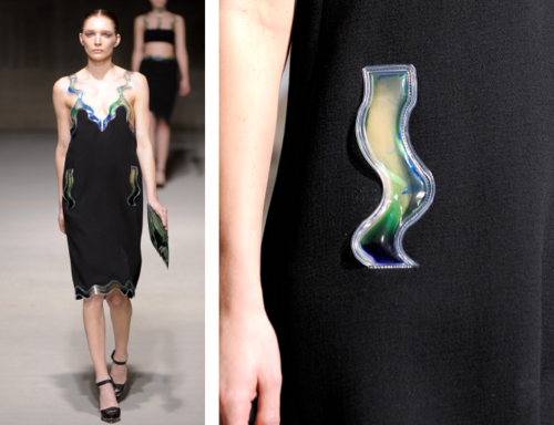 Christopher Kane Gel Inserts Over Pocket Bags