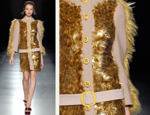 Sequins Reimagined | The Cutting Class. Textural sequins like fur from Prada AW11.