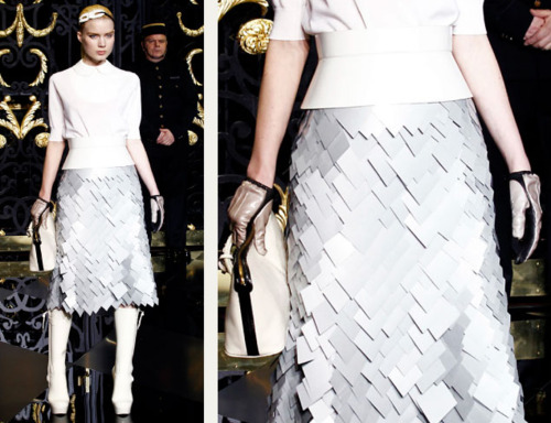 Sequins Reimagined | The Cutting Class. Jagged effect caused by large version of sequins, Louis Vuitton, AW11.