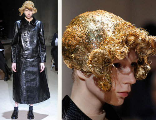 Sequins Reimagined | The Cutting Class. Comme des Garçons hair styled with sequins AW11.