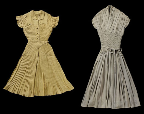 Miniature Couture. Dress by Jacques Fath and Dress by Jean Dessès. The Cutting Class.