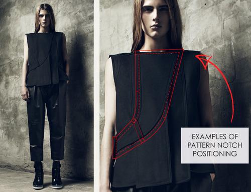 Fundamentals Of Pattern Making Pattern Notches The Cutting Class