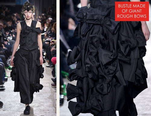 Comme des Garçons Ribbon Roses | The Cutting Class. Bustle made of giant rough bows. AW13.