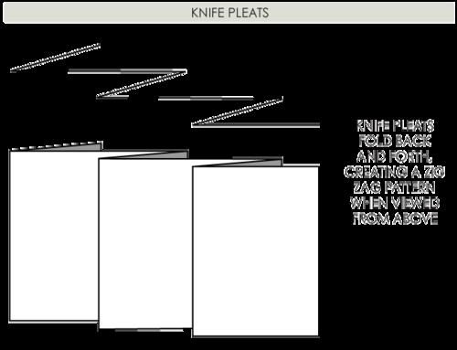 The Cutting Class Pleats, Knife Pleats.