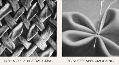 Contemporary Smocking Techniques | The Cutting Class. Trellis and Flower Smocking.