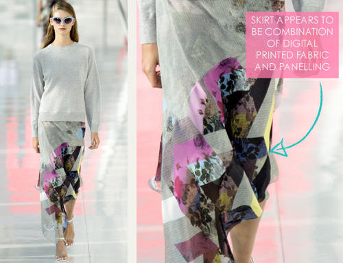 Simulated Patchwork Details at Preen | The Cutting Class. Preen, SS14, Image 5.