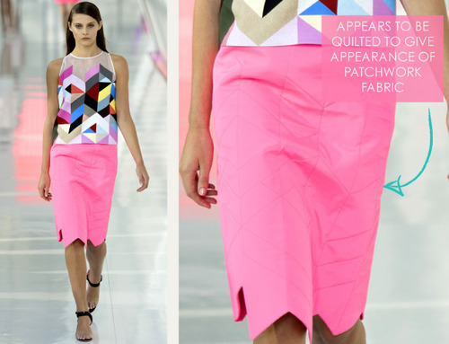 Simulated Patchwork Details at Preen | The Cutting Class. Preen, SS14, Image 7.