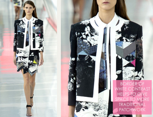 Simulated Patchwork Details at Preen | The Cutting Class. Preen, SS14, Image 10.