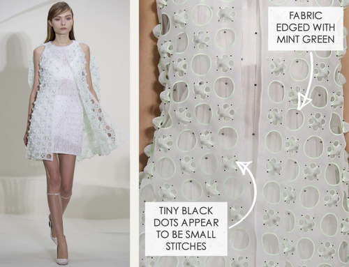Ethereal Fabrics at Dior Couture | The Cutting Class. Christian Dior, Couture, SS14, Paris. Image 1.