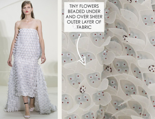 Ethereal Fabrics at Dior Couture | The Cutting Class. Christian Dior, Couture, SS14, Paris. Image 16.