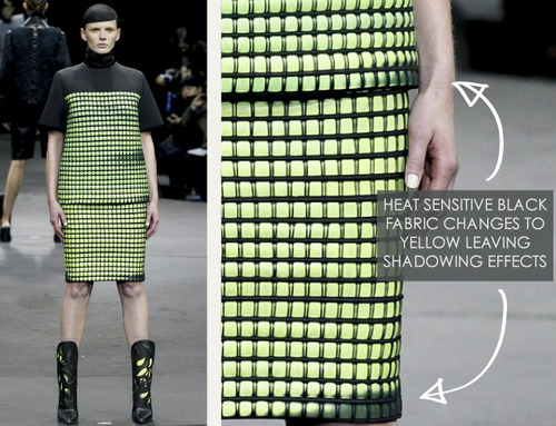 Thermal Colour Change at Alexander Wang   The Cutting Class. Alexander Wang, AW14, New York, Image 11.