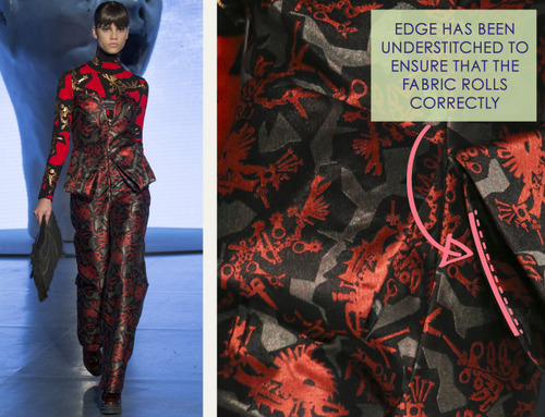 Clever Pattern Making Details at Kenzo | The Cutting Class. Kenzo, AW14, Paris, Image 3.