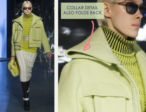 Clever Pattern Making Details at Kenzo | The Cutting Class. Kenzo, AW14, Paris, Image 5.