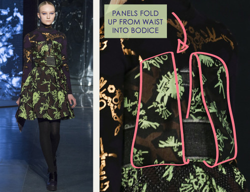 Clever Pattern Making Details at Kenzo | The Cutting Class. Kenzo, AW14, Paris, Image 6.