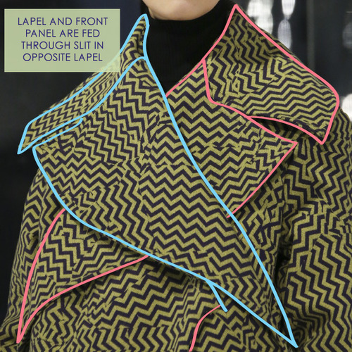 Clever Pattern Making Details at Kenzo | The Cutting Class. Kenzo, AW14, Paris, Image 7.