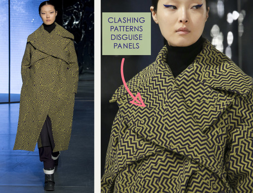Clever Pattern Making Details at Kenzo | The Cutting Class. Kenzo, AW14, Paris, Image 8.
