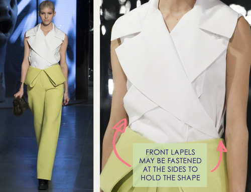 Clever Pattern Making Details at Kenzo | The Cutting Class. Kenzo, AW14, Paris, Image 10.