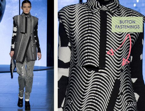 Clever Pattern Making Details at Kenzo | The Cutting Class. Kenzo, AW14, Paris, Image 12.
