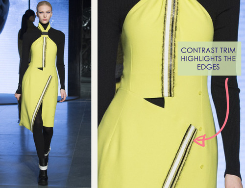 Clever Pattern Making Details at Kenzo | The Cutting Class. Kenzo, AW14, Paris, Image 14.