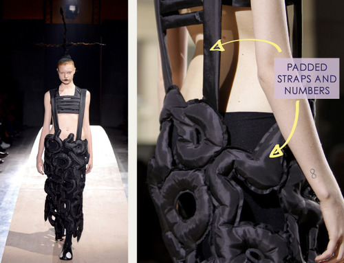 Woven Panels and Bursting Ruffles at Comme des Garçons | The Cutting Class. Comme des Garçons, SS14, Paris, Image 2.