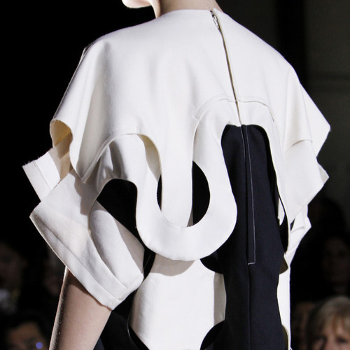 Woven Panels and Bursting Ruffles at Comme des Garçons | The Cutting Class. Comme des Garçons, SS14, Paris, Image 5.