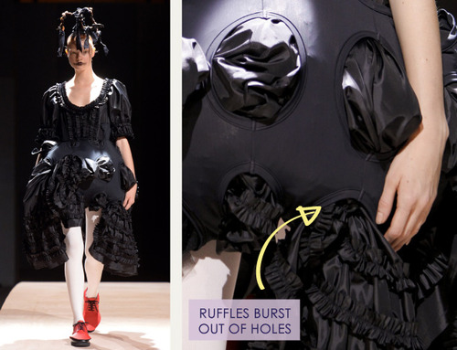 Woven Panels and Bursting Ruffles at Comme des Garçons | The Cutting Class. Comme des Garçons, SS14, Paris, Image 13.