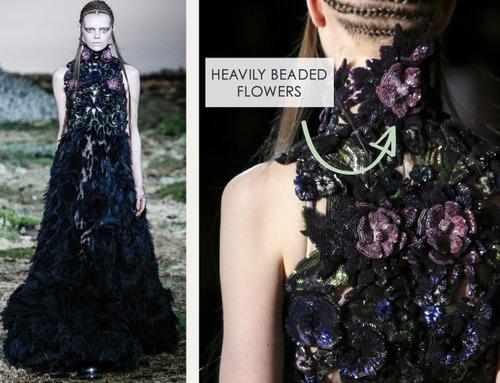 Fairytale Fabrics at Alexander McQueen | The Cutting Class. Alexander McQueen, AW14, Paris, Image 19.