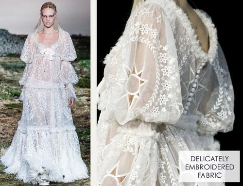 Fairytale Fabrics at Alexander McQueen | The Cutting Class. Alexander McQueen, AW14, Paris, Image 22.