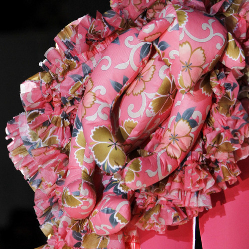 Woven Panels and Bursting Ruffles at Comme des Garçons | The Cutting Class. Comme des Garçons, SS14, Paris.