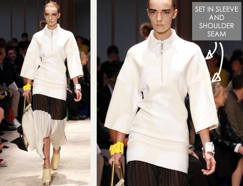 The Fullness and Shaping of Sleeves Part 1 | The Cutting Class. Céline, SS14, Paris, Image 1.