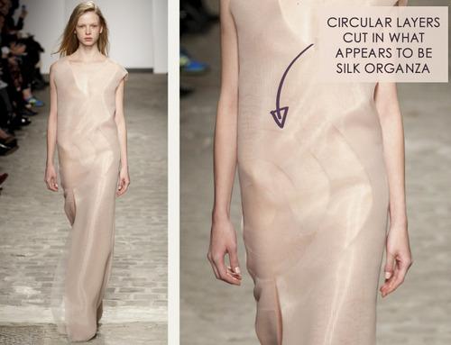A Nod to Process at Vionnet | The Cutting Class. Vionnet, SS14, Demi-Couture, Paris, Image 1.