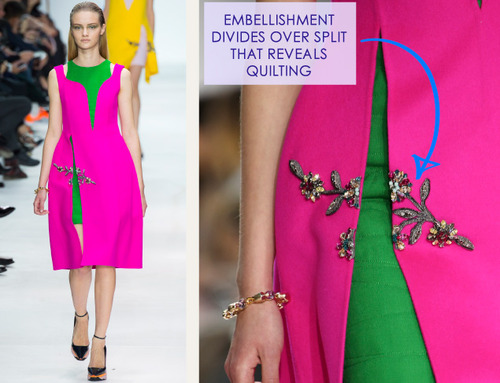 Lacing, Quilting and Tucks at Christian Dior   The Cutting Class. Christian Dior, AW14, Paris, Image 7.