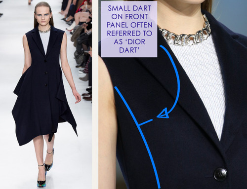 Lacing, Quilting and Tucks at Christian Dior   The Cutting Class. Christian Dior, AW14, Paris, Image 10.