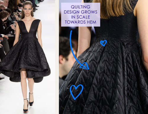 Lacing, Quilting and Tucks at Christian Dior | The Cutting Class. Christian Dior, AW14, Paris, Image 15.
