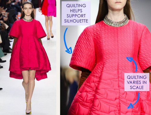 Lacing, Quilting and Tucks at Christian Dior   The Cutting Class. Christian Dior, AW14, Paris, Image 17.