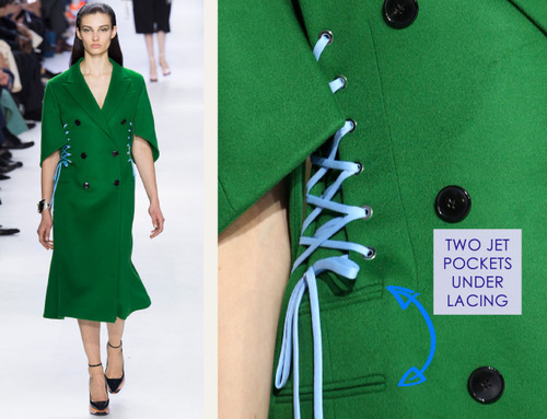 Lacing, Quilting and Tucks at Christian Dior   The Cutting Class. Christian Dior, AW14, Paris, Image 19.