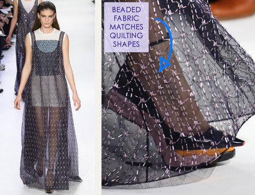 Lacing, Quilting and Tucks at Christian Dior | The Cutting Class. Christian Dior, AW14, Paris, Image 21.