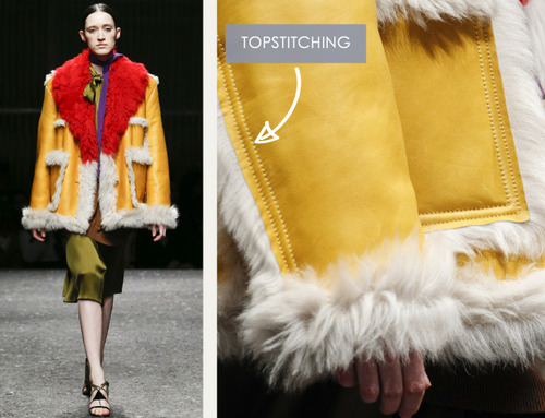 Glossary: Topstitching | The Cutting Class. Prada, AW14, Milan, Image 2.