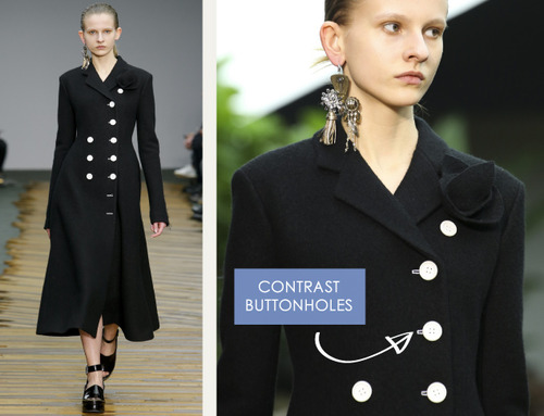 Fine Details and Contrasting Textures at Céline | The Cutting Class. Céline, AW14, Paris, Image 1.