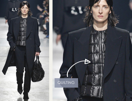 Glossary: Quilting | The Cutting Class. Christopher Kane, AW14, London, Image 2.