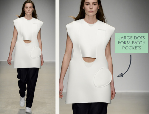 Loose Shapes and Wayward Dots at Jacquemus | The Cutting Class. Jacquemus, AW14, Paris, Image 3.