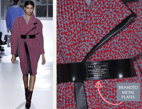 Fabrics and Hardware at Balenciaga | The Cutting Class. Balenciaga, AW14, Paris, Image 12.