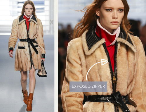Glossary: Exposed Zipper | The Cutting Class. Louis Vuitton, AW14, Paris, Image 2.