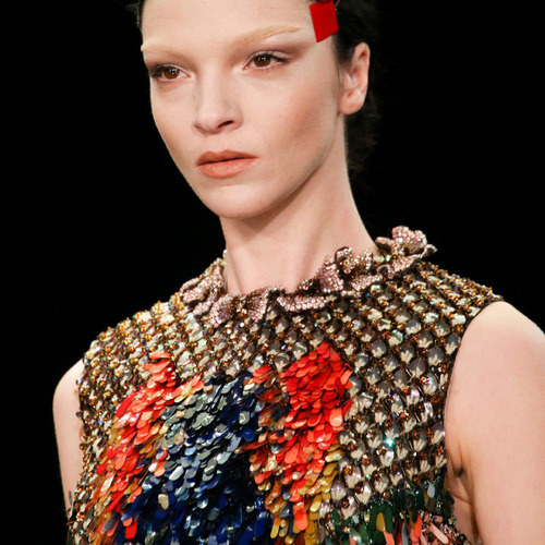 Glossary: Sequins | The Cutting Class. Givenchy, AW14, Paris.