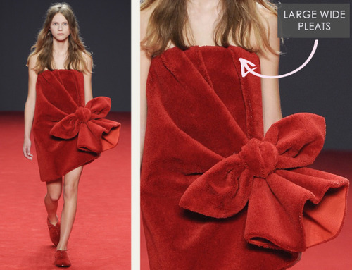 Big Red Carpet Bows at Viktor and Rolf | The Cutting Class. Viktor and Rolf, Haute Couture, AW14, Paris, Image 2.