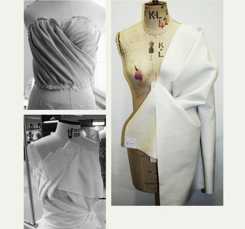 Draping and Moulage | The Cutting Class. Details of draping and moulage found on Pinterest, image 2.