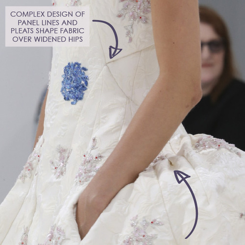 Structural Waist Shaping at Dior Couture | The Cutting Class. Christian Dior, Haute Couture, AW14, Paris, Image 10.