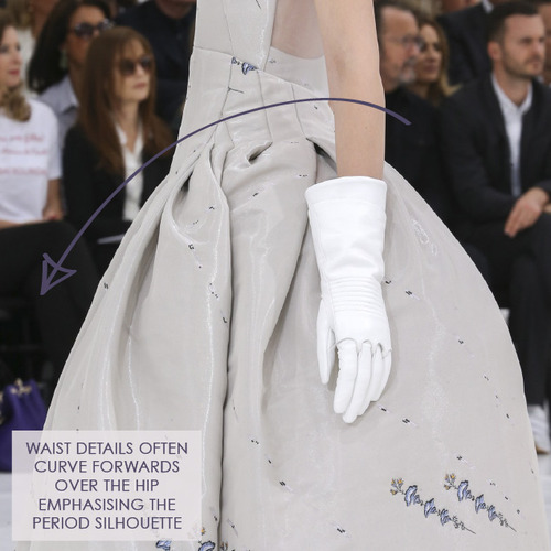 Structural Waist Shaping at Dior Couture | The Cutting Class. Christian Dior, Haute Couture, AW14, Paris, Image 12.