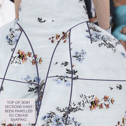 Structural Waist Shaping at Dior Couture | The Cutting Class. Christian Dior, Haute Couture, AW14, Paris, Image 14.
