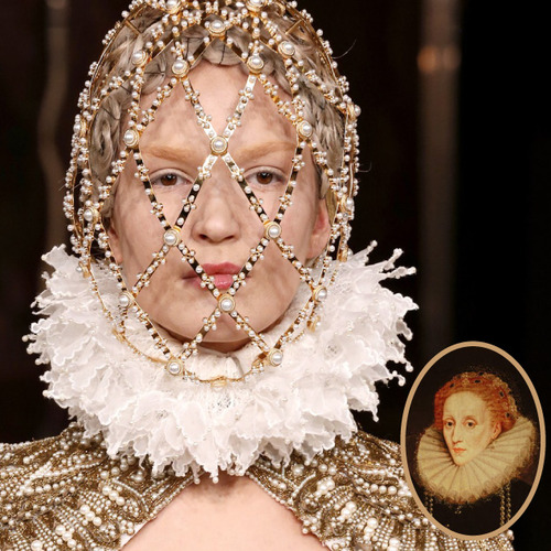 Creating Cartridge Pleats | The Cutting Class. Alexander McQueen, AW13, Paris and a portrait of Queen Elizabeth I.